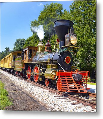 Steaming Into History Metal Print
