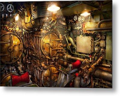 Steampunk - Naval - The Torpedo Room Metal Print by Mike Savad
