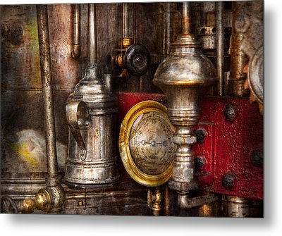 Steampunk - Needs Oil Metal Print by Mike Savad