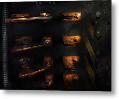 Steampunk - Pull The Switch Metal Print by Mike Savad