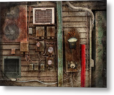 Steampunk - The Future  Metal Print by Mike Savad
