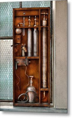 Steampunk - The Invention  Metal Print by Mike Savad