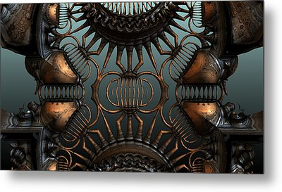 Steampunk Alcohol Still Metal Print