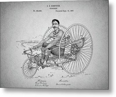 Steampunk Bicycle Patent Metal Print