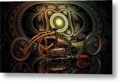 Metal Print featuring the photograph Steampunk Chopper by Louis Ferreira