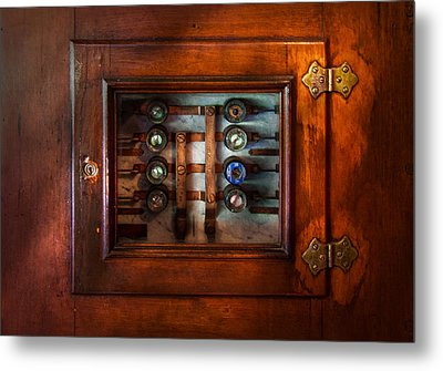 Steampunk - Electrical - The Fuse Panel Metal Print by Mike Savad