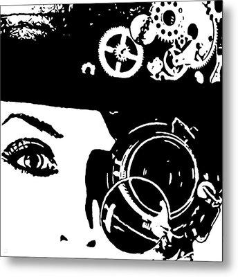 Steampunk Existence Metal Print