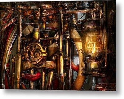 Steampunk - Mechanica  Metal Print by Mike Savad