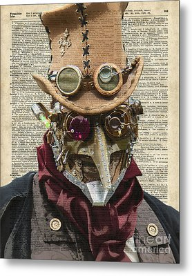 Steampunk Robot Metal Print by Jacob Kuch