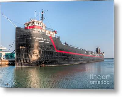 Steamship William G. Mather I Metal Print by Clarence Holmes
