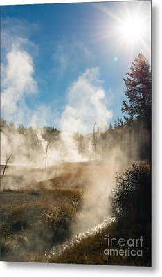 Steamy Sunrise Metal Print by Birches Photography