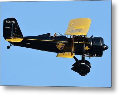 Stearman 4e Junior Speedmail Nc663k Chino California April 29 2016 Metal Print by Brian Lockett
