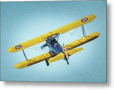 Metal Print featuring the photograph Stearman by James Barber