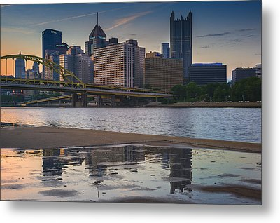 Steel Reflections Metal Print by Rick Berk