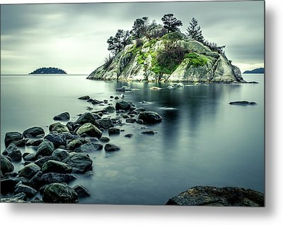 Steely Day At Whytecliff Metal Print