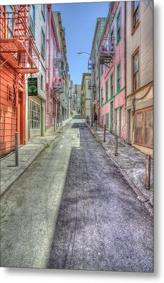 Steep Street Metal Print