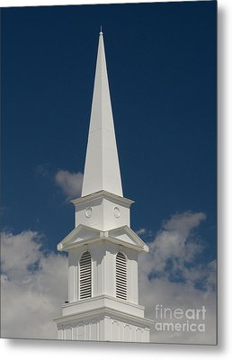 Steeple And Clouds Metal Print by Merrimon Crawford