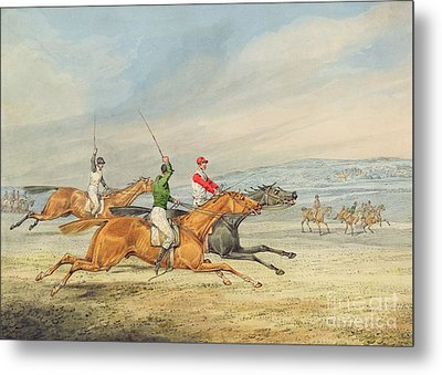 Steeplechasing Metal Print by Henry Thomas Alken