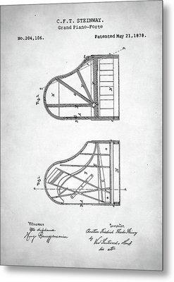 Steinway Grand Piano Patent Metal Print