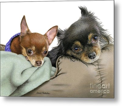 Stella And Nettie Metal Print by Sarah Batalka