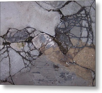 Step On A Crack 2 Metal Print by Anna Villarreal Garbis