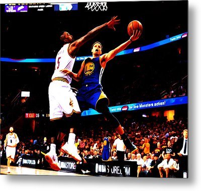Steph Curry Left Hand Metal Print by Brian Reaves