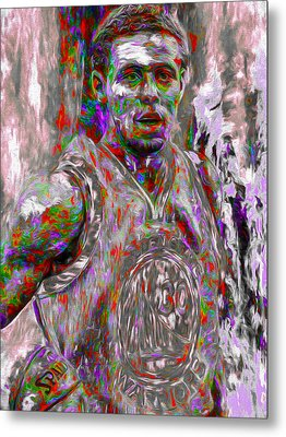 Stephen Curry Golden State Warriors Digital Painting 2 Metal Print