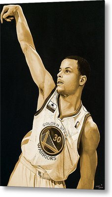 Stephen Curry Golden State Warriors   Metal Print