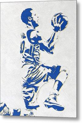 Stephen Curry Golden State Warriors Pixel Art Metal Print