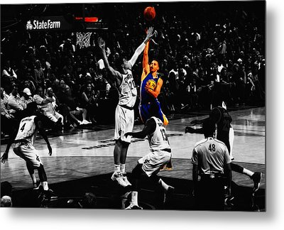 Stephen Curry Soft Touch Metal Print