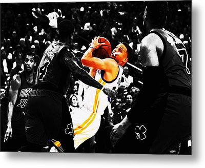Stephen Curry Stay Focused Metal Print by Brian Reaves