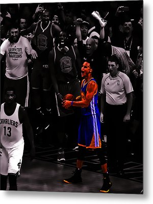 Stephen Curry Sweet Victory Metal Print