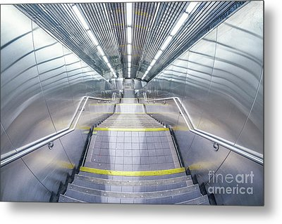 Stepping Down To The Underground Metal Print