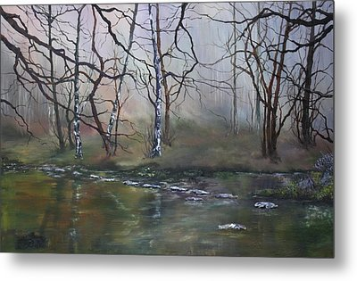 Stepping Stones On Cannock Chase Metal Print