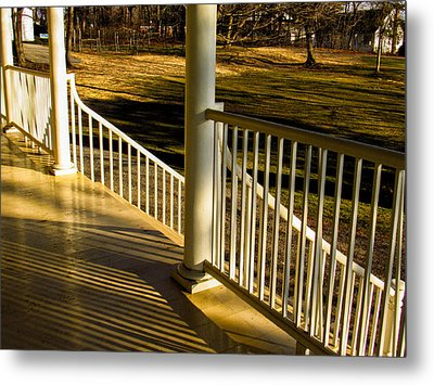 Steps And Shadows At Thomas Cole House In Catskill Metal Print by Nancy De Flon