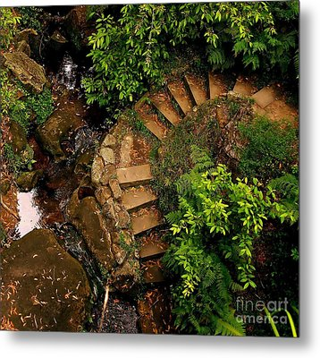 Steps Leading Up The Stairway To Heaven Metal Print