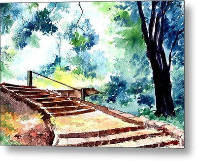 Steps To Eternity Metal Print by Anil Nene