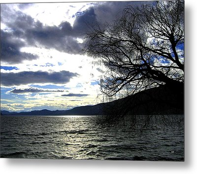 Sterling Silver Sunset Metal Print by Will Borden