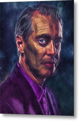 Metal Print featuring the photograph Steve Buscemi Actor Painted by David Haskett