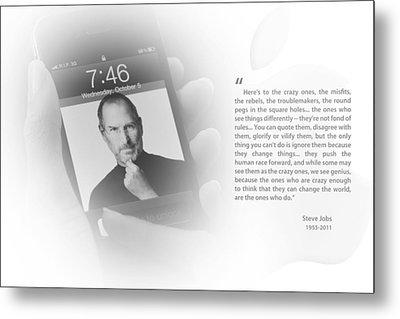 Steve Jobs 1 Metal Print