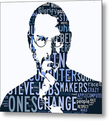 Steve Jobs Here's To The Crazy One's Speach Metal Print