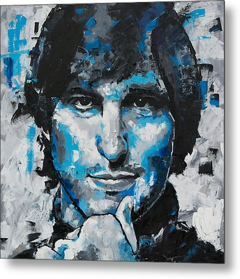 Metal Print featuring the painting Steve Jobs II by Richard Day