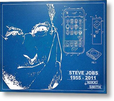 Steve Jobs Iphone Patent Artwork Metal Print