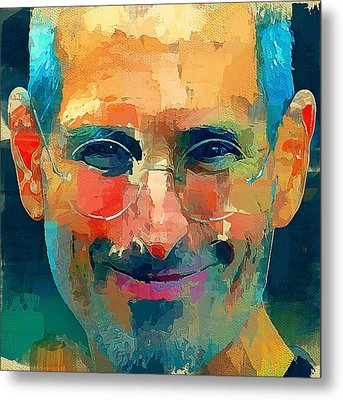 Steve Jobs The Legend Metal Print