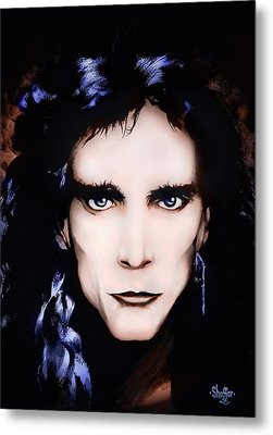 Metal Print featuring the painting Steve Vai by Curtiss Shaffer