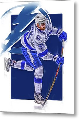 Steven Stamkos Tampa Bay Lightning Oil Art Series 3 Metal Print