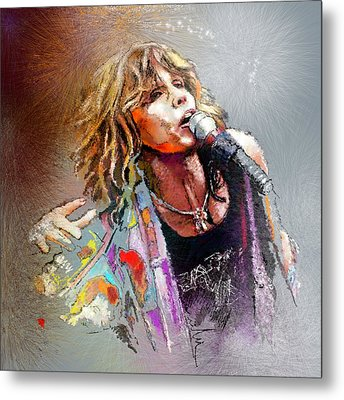 Steven Tyler 02  Aerosmith Metal Print by Miki De Goodaboom