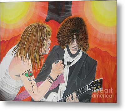 Metal Print featuring the painting Steven Tyler And Joe Perry Painting by Jeepee Aero