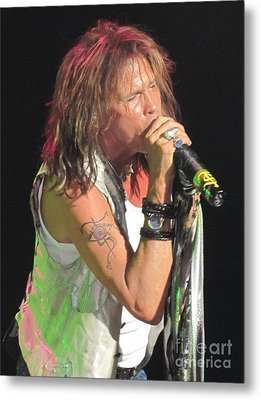 Metal Print featuring the photograph Steven Tyler Concert Picture by Jeepee Aero