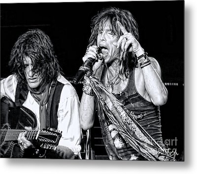 Steven Tyler Croons Metal Print by Traci Cottingham